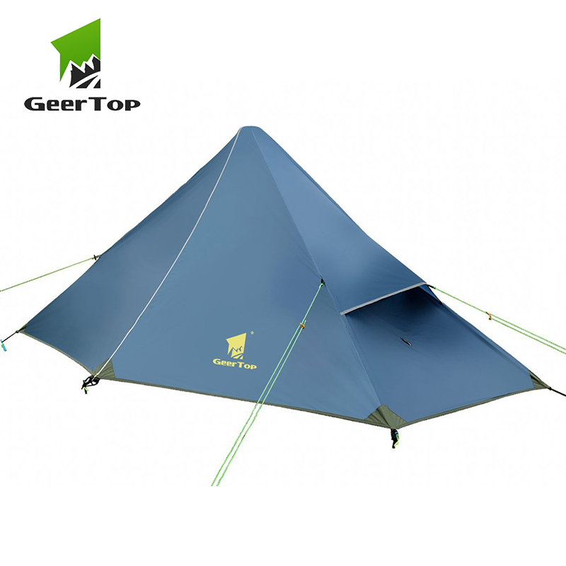 GeerTop Ultralight One Person Three Season Backpacking Tent Outdoor Camping Hiking Tourist Equipment Portable Trekking Tents 1 3 image