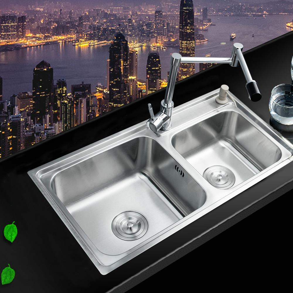 Hello kitchen stainless steel sink sink vessel kitchen for Kitchen set vessels