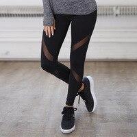 Quick Drying Net Yarn Yoga Pants Black High Waist Elastic Running Fitness Slim Sport Pants Gym