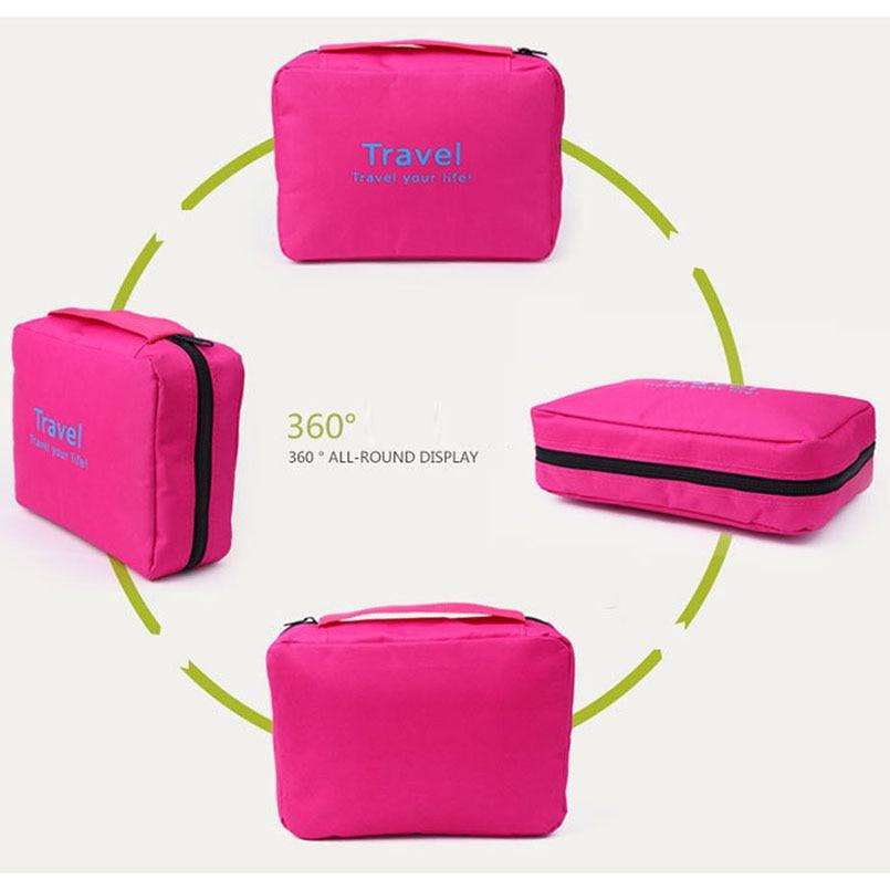 Hanging Travel Cosmetic Bag Women Zipper Make Up Bags Polyester High Capacity Makeup Case handbag Organizer Storage Wash Bag in Storage Bags from Home Garden