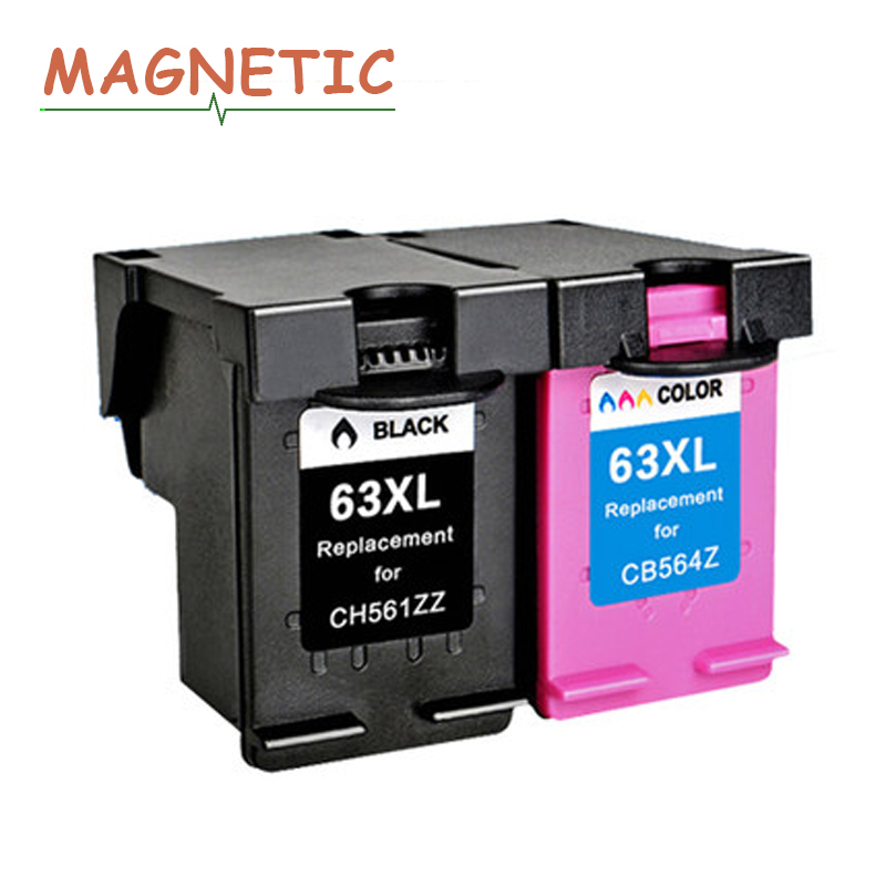 Comp Ink Cartridges HP 63 XL for HP Officejet 3830 4650 Envy 4520 Printer DA