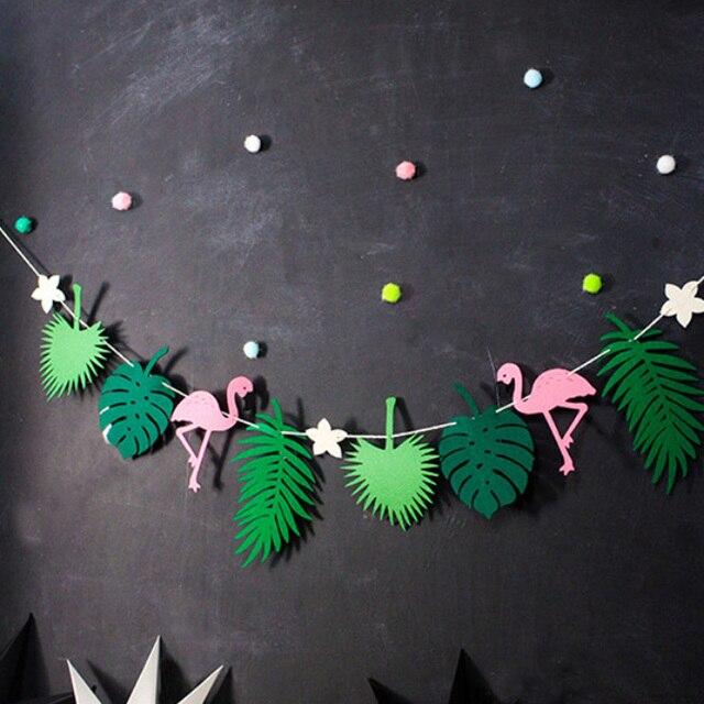 Buona Flamingo E Ananas Banner Bunting Estate Festa di Compleanno Foto Prop Trop