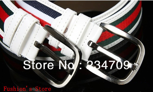 Han edition fashion canvas colour bar personality  supernova sale unisex belts for men/belts for women ,1 pcs/lot