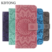 KDTONG Case sFor Samsung Galaxy A6S Fashion Embossing Flip Leather Magnetic Wallet Card Cover For