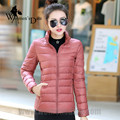 WomensDate 2016 New Arrival Winter Women 90% White Duck Down Jacket Slim Short Coat Plus Size Duck Down Pink Girl Jackets Parka
