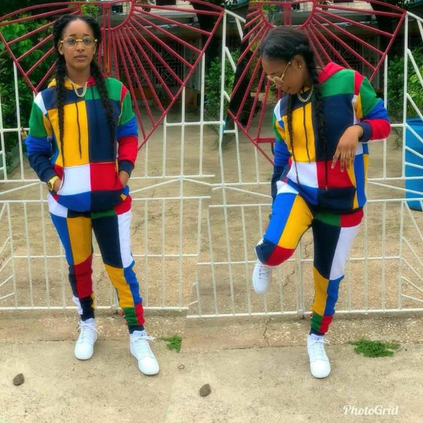 2018 Dashiki Traditional African Clothing Two Piece Set Women Africaine Print Bodycon Dress+Pants African Clothes M152
