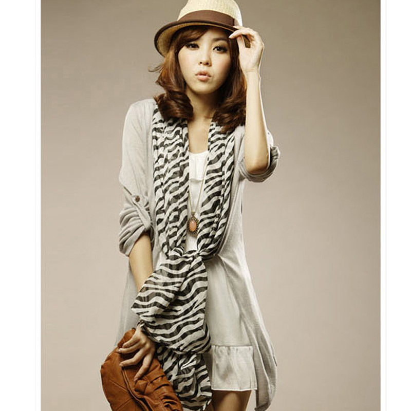 New Fashion Pashmina Hot Zebra Animal Prints Women Lady Long Large Stripe Scarf Wrap Scarves Silk Scarf A1