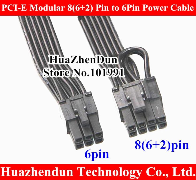 Free DHL/EMS for 50~100pcs 12 PCI-E Modular 8(6+2) Pin to 6Pin Motherboard Power Supply Cable for Seasonic SS-620GM 18AWG 40CM dhl ems advantech pca 6106p3 rev b1 01 sbc backplane 2 isa 2 picmg 3 pci c3 d9