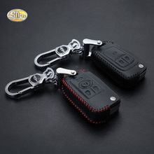 SNCN Genuine Leather car key cover case for Buick Opel Vauxhall Mokka Insignia GS Astra XT GT GL8 ring remote keychain