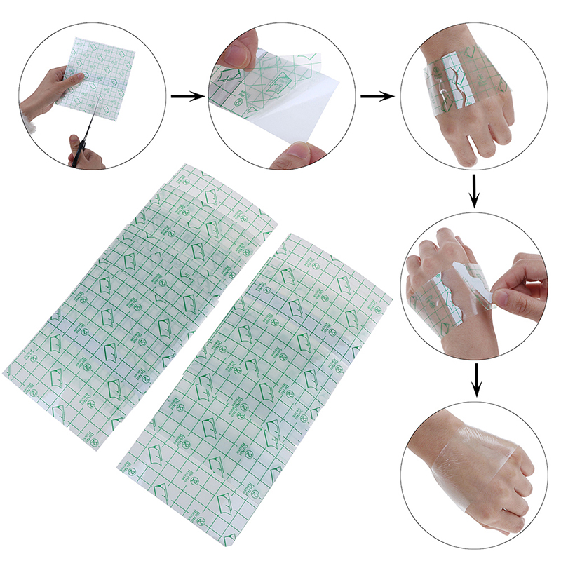 10pcs/pack Waterproof Clear Tape Wound Anti-allergic Adhensive Tape Shower Bath Tools For Men Women 12cm*12m Bath & Shower