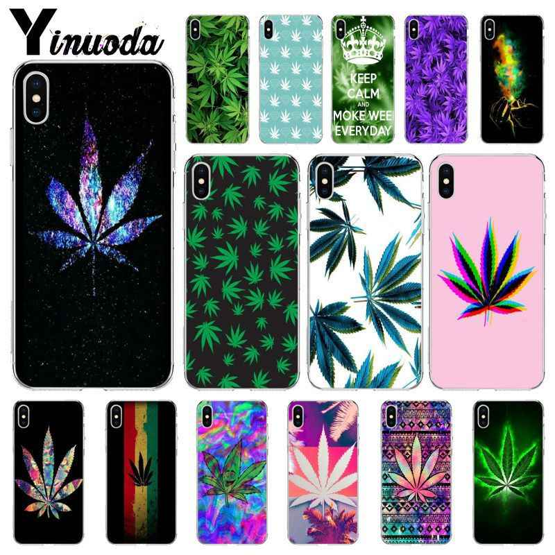 Yinuoda Abstractionism Art High Weed Custom Design Back Case for iPhone 6S 6plus 7plus 8Plus X Xs MAX 5 5S SE XR Case