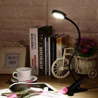 LED Clamp Lamp Reading Light Flexible LED Book Table Desk Lamp Energy Efficient Clip On Night