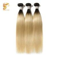 AOSUN HAIR Ombre Brazilian Remy Hair Weave Bundles 1b/613 Color Straight Hair 1/3 Bundles 100% Human Hair Weft Free Shipping