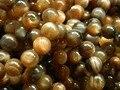 (36 contas/set) natural sunstone incrível Botswana 10-10.5mm preto rodada contas loose para jóias fazer o projeto