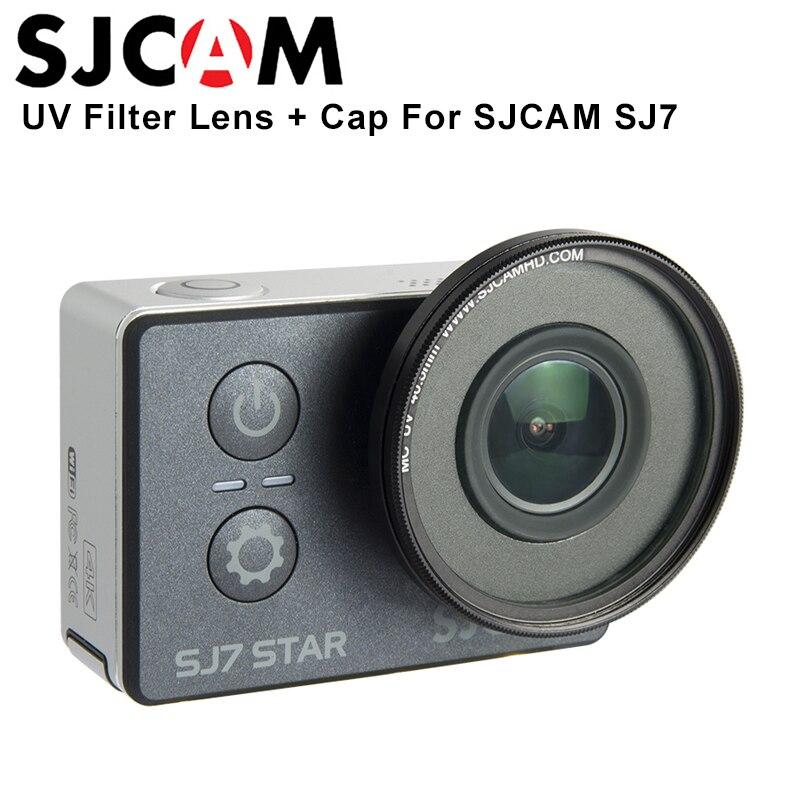Original SJCAM SJ7 Star MC UV Lens 40.5mm + Protection Cap Anti-Scratch Lens UV Filter Lens For SJCAM SJ7 Star 4K Action Camera
