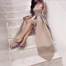 2018 New Arrival Fashion Khaki Maxi Celebrity Prom Evenging Party Dress