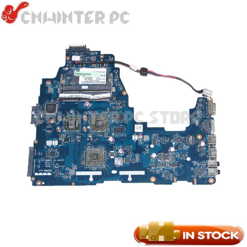 NOKOTION K000124450 LA-6846P MAIN BOARD For Toshiba Satellite C660 Laptop Motherboard E450 CPU DDR3 HD6330M Video card