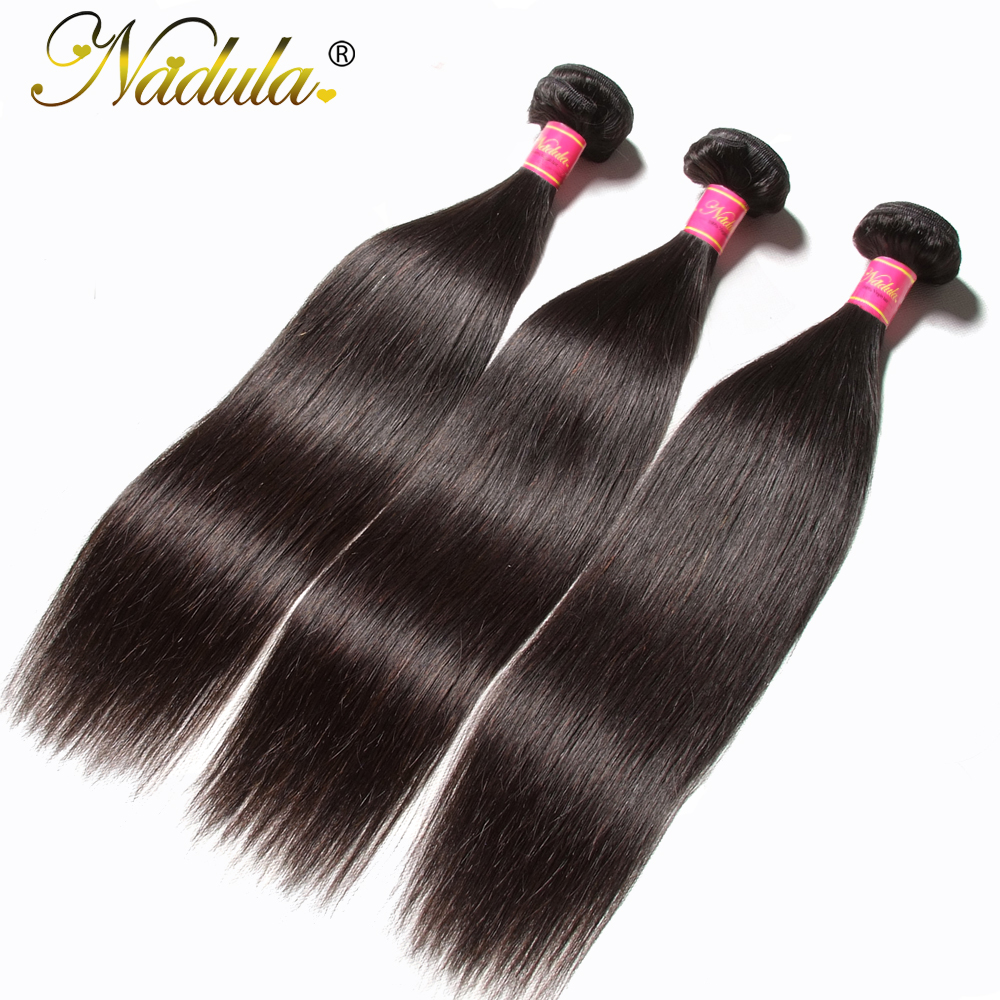 Flokët Nadula 1 copë / 3 pako / 4 pako flokësh të drejtë drejt - Flokët e njeriut (të zeza) - Foto 2