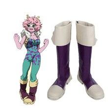 My Hero Academia Boku no hero academia Mina Ashido Pinky Cosplay Shoes Boots Custom Made