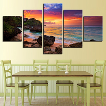 5 Pieces Sunset Glow Paintings Home Decor Living Room