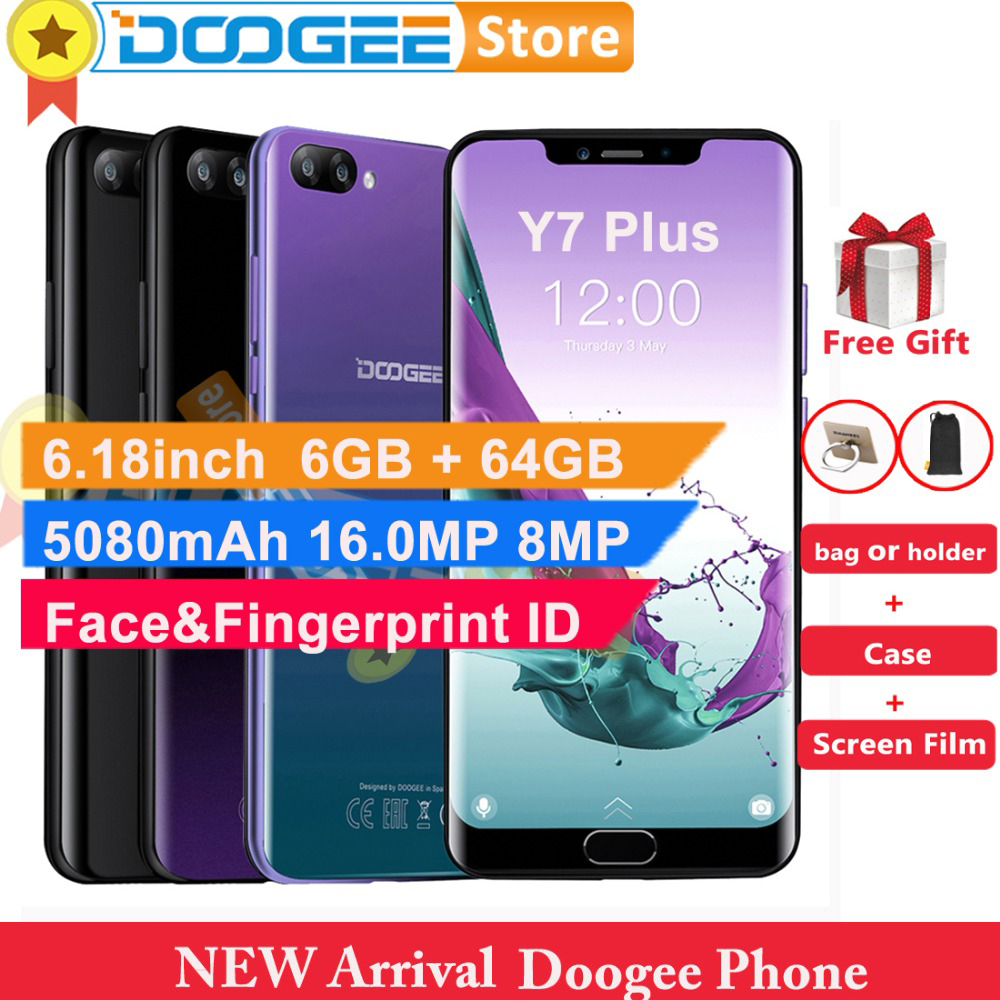 DOOGEE Y7 Plus Cell Phone 6 18inch MTK6757 Octa Core 2 5GHz 6GB 64GB 16 0MP