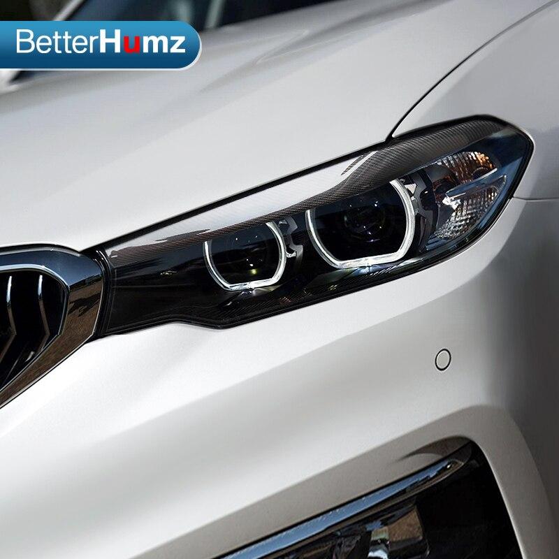 DKINCM 2pcsFront Headlight Covers Eyelids eyebrowsCar styling,For BMW 525i 530i 540i G30 G31 F90 M5