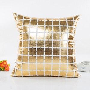 Image 5 - Модный геометрический Золотой фольгированный чехол для подушки 45X45 см, высокое качество, диван, талия, наволочка для подушки, украшение для дома