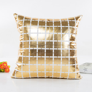 Image 5 - Fashion Geometric Gold Foil Printing Pillow Cover 45cmX45cm High Quality Sofa Waist Throw Cushion Cover Bed Home Decoration