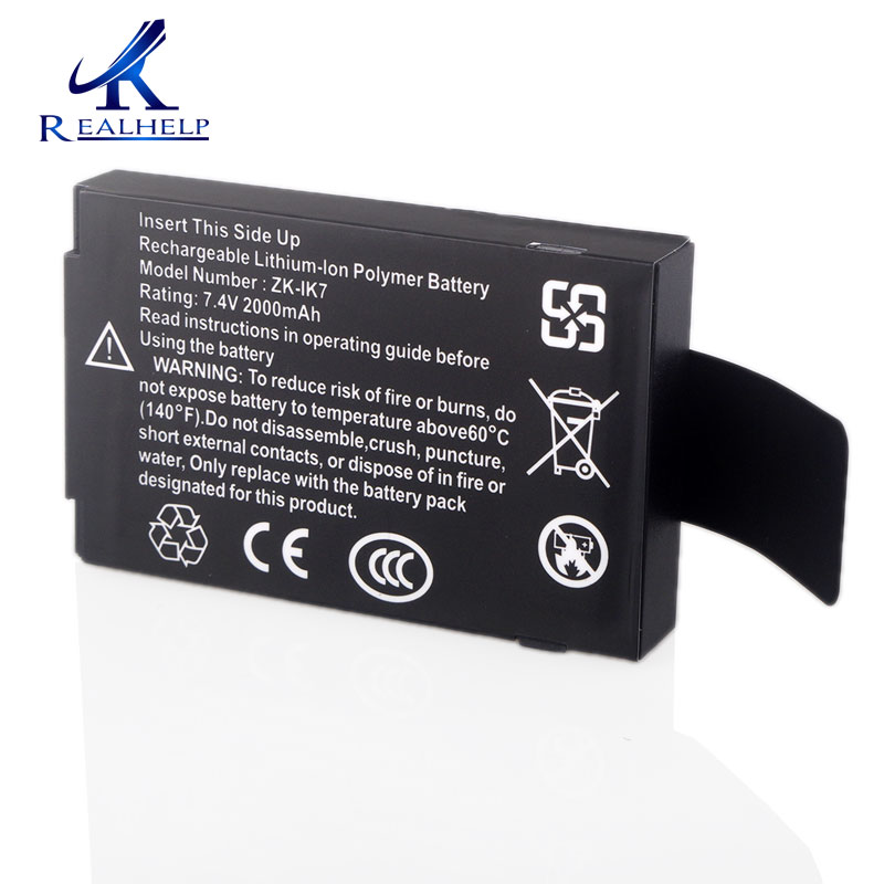 Can work 3 to 5 Hours ZK IK7 Lithium Battery 7.4v 2000mah Built-in Battery Rechargeable Battery for ZK Iface Machine mx3 battery 3 battery m351 m355 phone b030 original built in battery