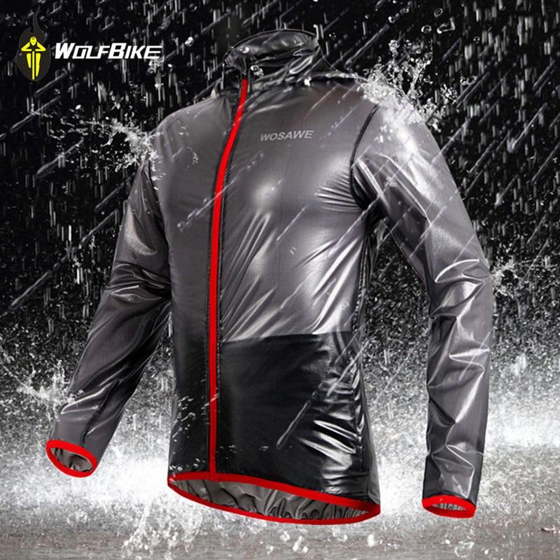 WOSAWE Outdoor Sports Waterproof Windproof Rain Cycling Bike Bicycle Running Jacket Coat Jersey Superlight Gray/ Blue/ Green