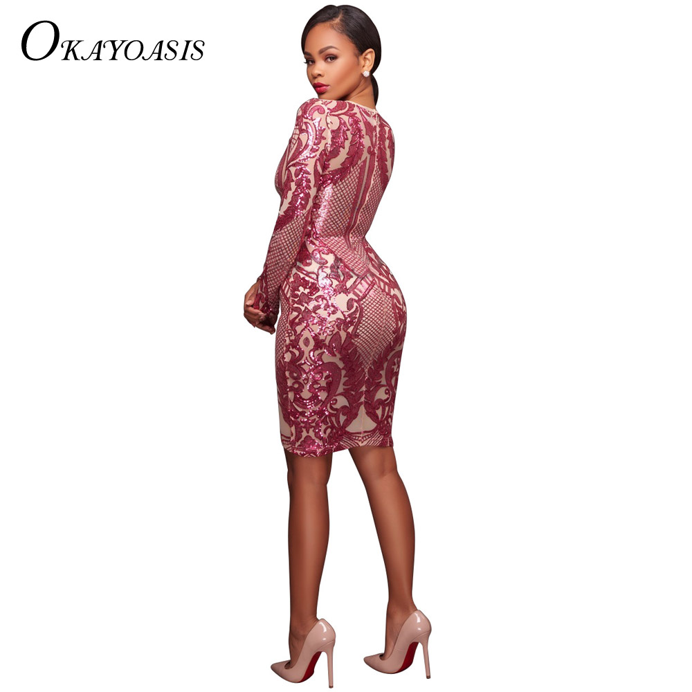 ... Long Sleeve Celebrity Party Dress Chic Women Geometric Nude Bodycon  Dresses Vestidos. 3. 20596-1 20596-2 20596 20597-1 20597-2 ... 1a25a5af8b0e