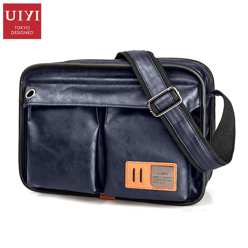 Leather Crossbody Bags Black Chest Bag Quality Male Shoulder Bag Canvas Handbag Messenger Teenager