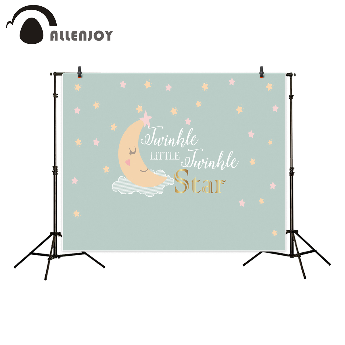 Allenjoy photography background twinkle twinkle little star baby stars heart moon backdrop photo studio photocall crooked little heart
