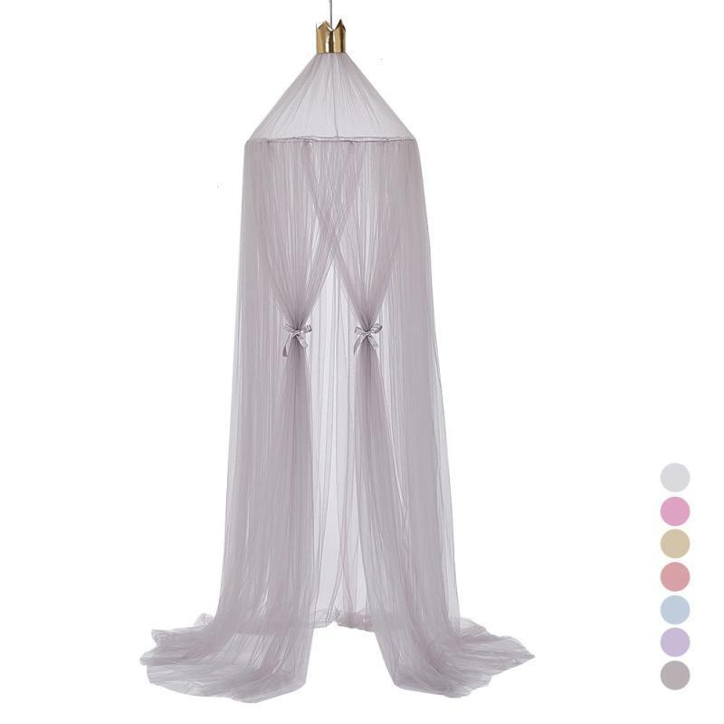 240cm Mosquito Net decoration home Mosquito bed Curtain Round Crib Tent Hung Dome Mosquito Net Photography Props Baby Net Bed 3