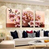 Foto Canvas Schilderij Home Decoratie Foto Muur Pictures Voor Woonkamer Modulaire Orchidee Muurschildering Bloem Geen Frame