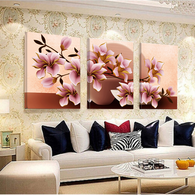 US $8 45 35% OFF|Pictures Canvas Painting Home Decoration Pictures Wall  Pictures For Living Room Modular Orchid Wall Painting Flower No Frame-in