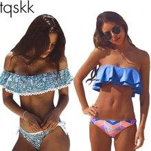 TQSKK Bikinis Women Swimsuit Push Up Swimwear Women 2017 New Sexy Bandeau Brazilian Bikini Set Beach Wear Bathing Suits Biquini