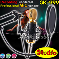 Professional SK-999 Wired Dynamic Mic Condenser Studio Recording Microphone Set For Computer Broadcasting Karaoke KTV Microfone