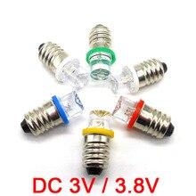 E10 Винт Светодиодная лампочка 0.3A 3V 3.8V Физическое оборудование Эксперимент Светлые шарики Белый