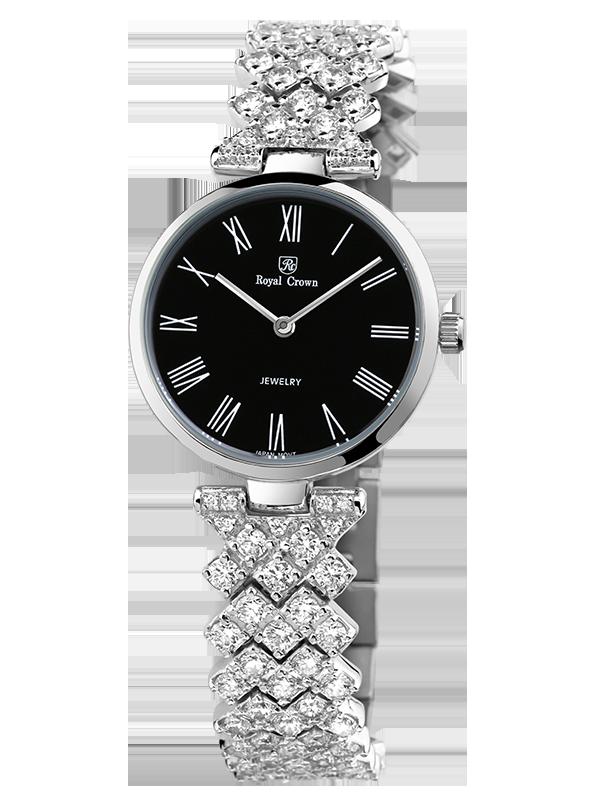 Royal Crown Jewelry Watch 2601 Italy brand Diamond Japan MIYOTA platinum Quartz Fashion Fancy Dress Bracelet Party Girl все цены
