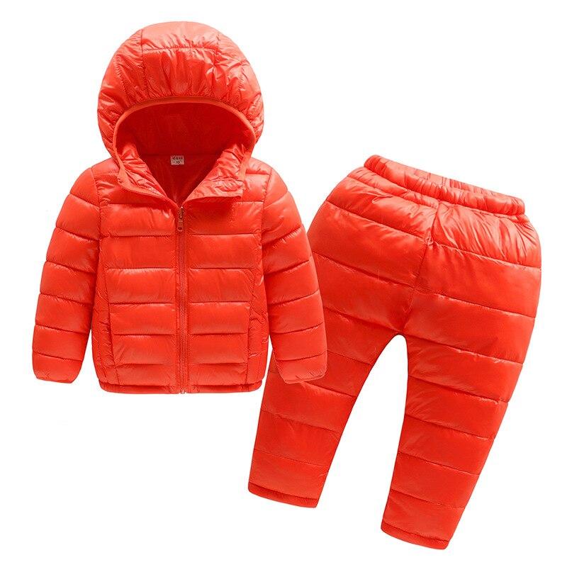 Bibicola/маленьких пальто для мальчиков детская теплая куртка Bebe одежда зимняя Толстая Одежда Набор детей с капюшоном Пуховое пальто, куртка + Б...