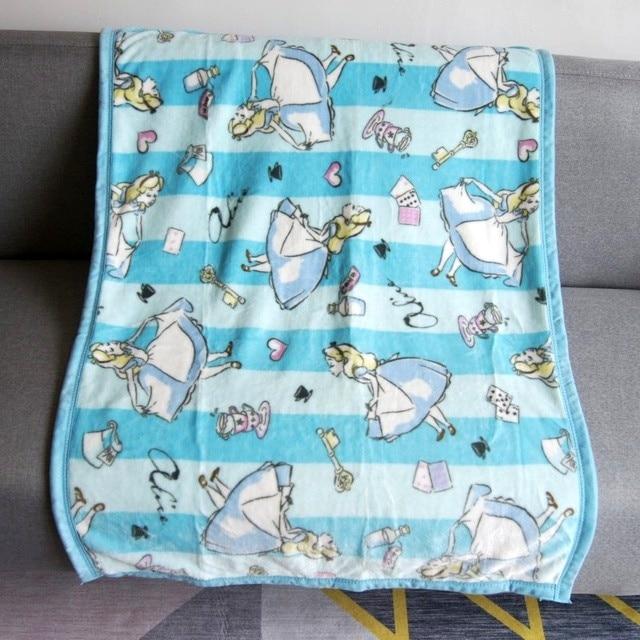 Princess Mickey Mininie Mouse Soft Flannel Small Size Throw Baby Blanket  70x100cm Marie Winnie Princess Frozen For Kids Dog Cat