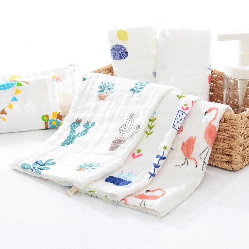Kenntnisreich 10 Pcs 6 Schichten High-dichte 100% Baumwolle Eine Klasse Musselin Gaze Wischen Tuch Baby Taschentuch Gesicht Handtuch Baby Speichel Handtuch 25x50 Cm 100% Original Mutter & Kinder