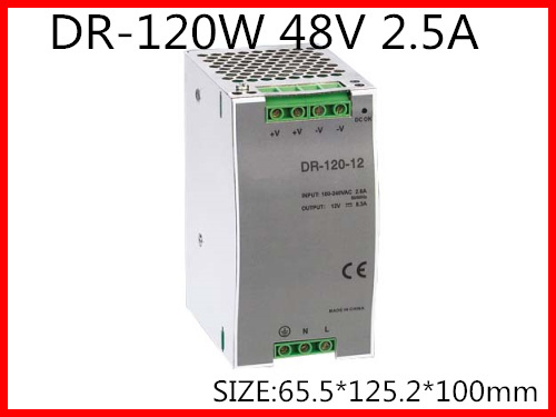 DR-120-48 Din Rail Switching power supply 120W 48VDC 2.5A Output 120w 12v din rail single output switching power supply dr 120 12