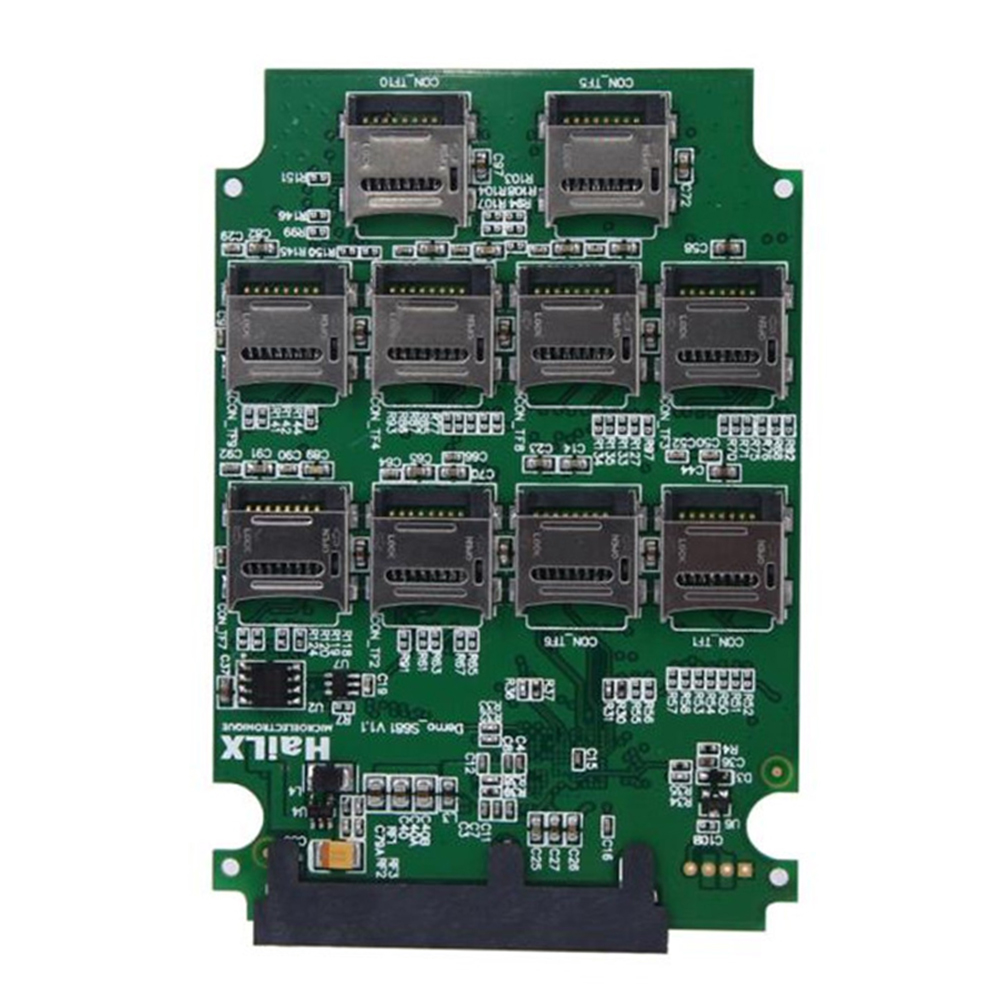 10 Slots Micro SD TF Memory Card To SATA SSD Adapter Expansion RAID Converter