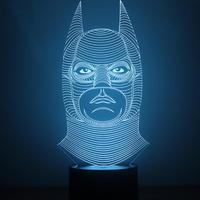 USB Batman Mermaid Shape Colorful 3D Night Lights 1 5W LED Bedside Indoor Night Light Atmosphere