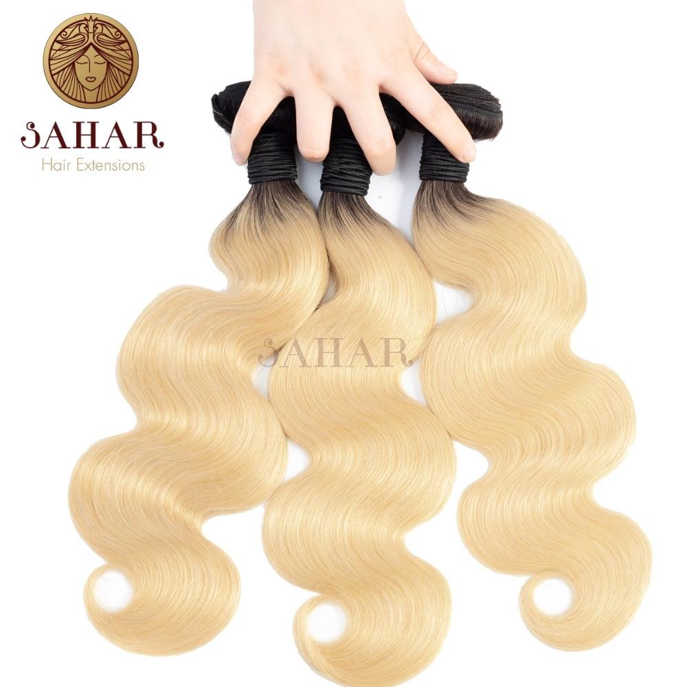 Sahar T1B 613 Blonde Human Body Wave Hair Bundles 1 3 4 PCS Honey Blonde Bundles Brazilian Remy Hair Weave 100 Human Hair Weave in Hair Weaves from Hair Extensions Wigs