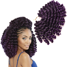 Short Curl 8 inch 75g/pc Afro Kinky Twist Hair Crochet Braids Ombre Synthetic Wand Curl Curly Braiding Crochet Hair Extensions