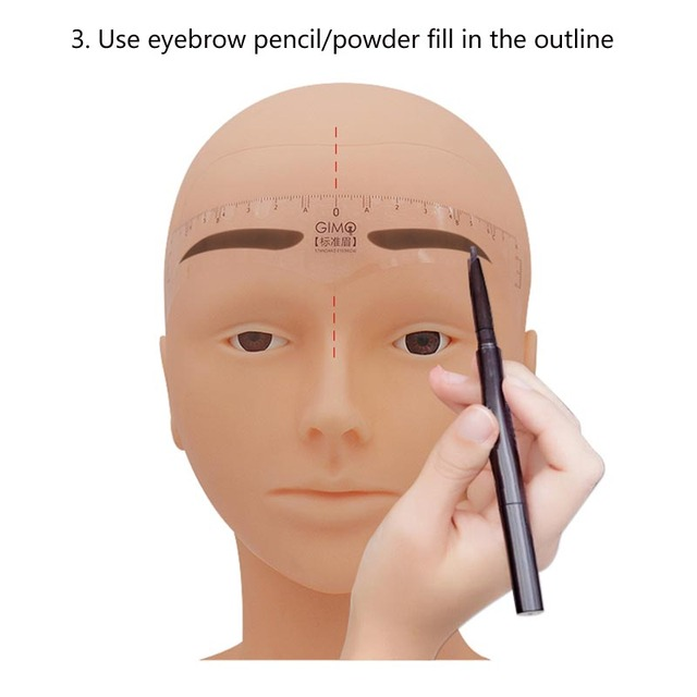 50pcs 8 Styles Eyebrow Ruler One-time Permanent Stencils Guide Measuring Makeup Tool Penciling Setting Ruler Accessory 4