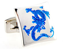 Free Shipping Dragon Cufflinks for men's Black&Blue Color Chinese Style Groom Men Wedding Cuff links gemelos cufflinks Hotsales